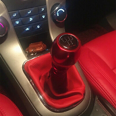 Universal 5 6 Speed Manual Gear Black Shift Knob Stick Aluminum Lift Up MT Car