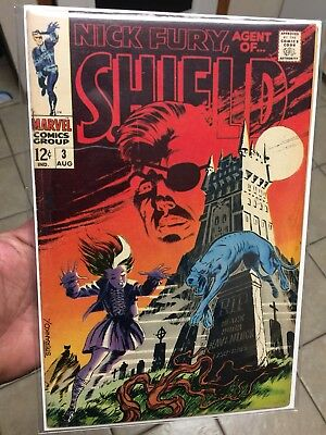 NICK FURY, Agent of SHIELD #3 JIM STERANKO story, interior and cover art 1968
