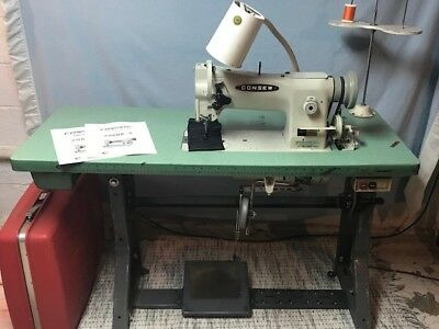 Consew 206RB-5 Industrial walking foot Sewing Machine with table w/ clutch motor