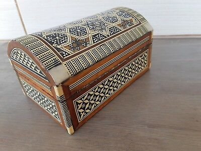 Antique Jewelry box Premium Quality Orient-Syrian Handmade Mosaic Wood