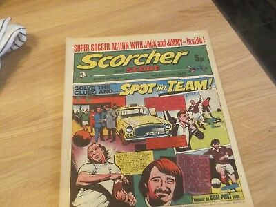 02/02/1974 Scorcher And Score Comic Dundee Fc On Cover Includes Alan Gilzean
