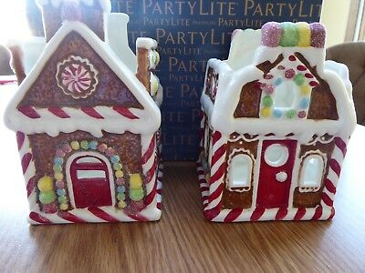 Partylite Iced Gingerbread Votive Pair P92507 - Nib