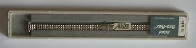 Vintage 10mm Fixo-Flex Rowi New Old Stock Stainless Steel Watch Bracelet boxed