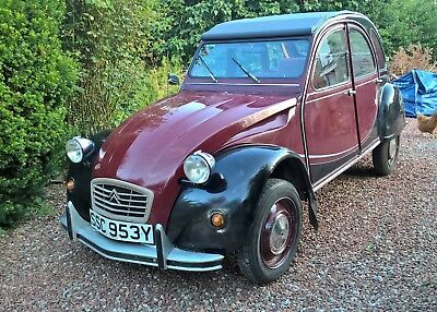 CITROEN CHARLESTON 2 CV,  1983,  Good Condition, Black and Maroon