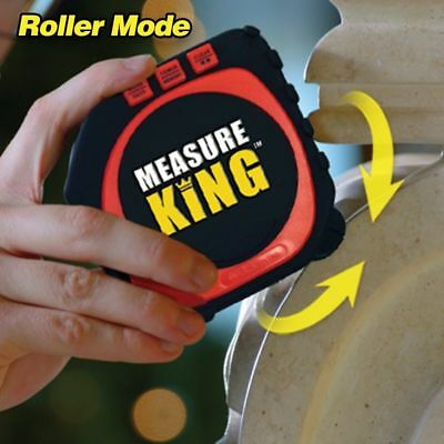Measure King 3 In 1 Digital Tape Measure String Sonic Roller 3 Modes Laser Tool