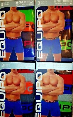 NWT Mens Equipo Boxer Briefs / Underwear -  3 Pack -   LARGE   - 3 COLORS