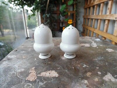 A Pair Rare Moorcroft Pepper Pots Beaded Decoration