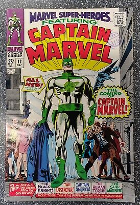 Marvel Super-Heroes #12 1st Captain Marvel
