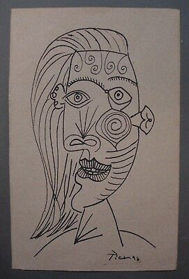 Drawing ink signed PABLO PICASSO