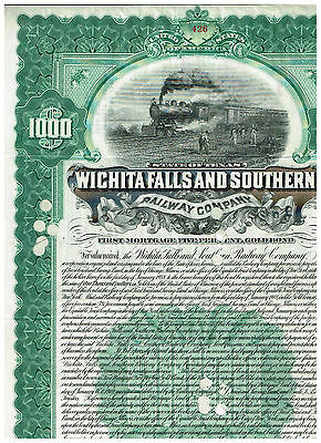 Wichita Falls and Southern Railway Co., 1909, selten