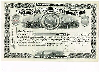 Cleveland, Columbus, Cincinnati & Indianapolis Railway, 188x, uniss. but signed