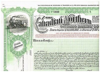 Canadian Northern Ontario Railway Co., 19xx, SPECIMEN, rare