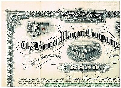 Homer Wagon Co.Ltd., 1889, unc.