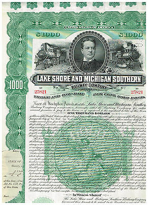 Lake Shore and Michigan Southern Rwy. Co., 1897, 1000$ Gold-Bond