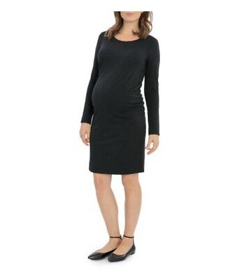 Great Expectations Maternity Long Sleeve Jersey Tee Dress with Size L