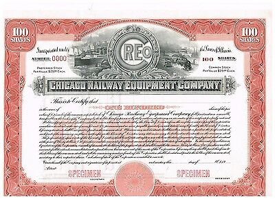 Chicago Railway Equipment Co., 19xx, SPECIMEN, nice