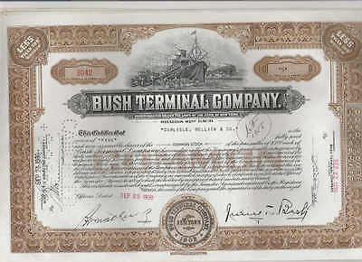 Bush Terminal Co., 1930s, brown