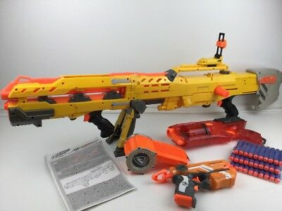 Nerf N-Strike Longshot CS-6 + Strongarm + FireStrike + 30x New Ammo (2)
