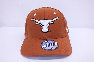 buy online 2714b a5775 University Of Texas Longhorns Ncaa Adult Fitted Hat New Cap By Zephyr E84