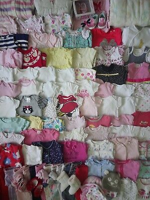 Extra Massive Baby Girls Clothes Bundle 0 - 3 Months/Over 100 Items