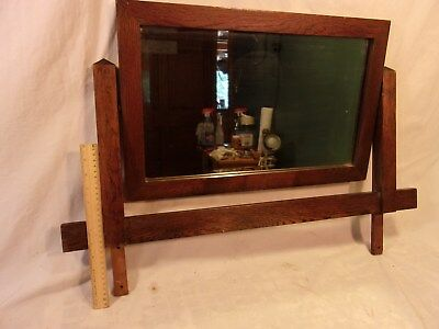 OAK mission arts and craft dresser mirror unit25 1/2 x 17 mirror 14 1/4 x 22 1/4
