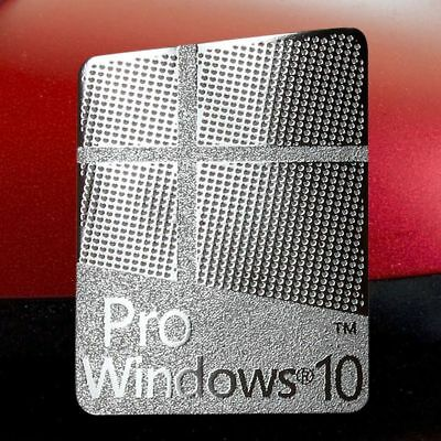 1 x Pr0 Window 10 Silver  Logo Sticker Decals for Laptop/ Pc 23mmx16mm