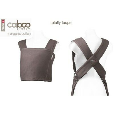 Caboo Close baby sling Taupe organic cotton