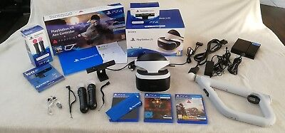 Sony PlayStation VR Headset + Kamera + Move Controller + Aim Controller + Spiele