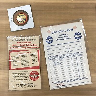 Flying A Pin Maps Postcard Invoice Cards Associated Veedol