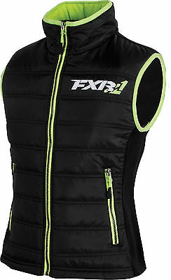 FXR WOMENS BLACK / LIME BLOCK HEATER INSULATED VEST -Sizes 4 - 6 - 8 - 10  - NEW