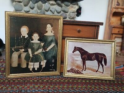 Dollhouse Lot of 2 Prints by Fine Art Miniatures  1:12