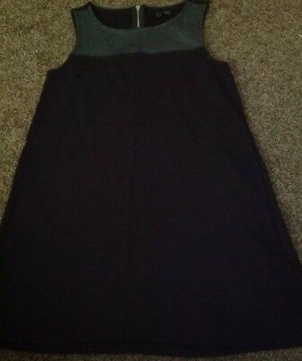Little Black Dress With Faux Leather Yoke From Divided By H&M Size 8