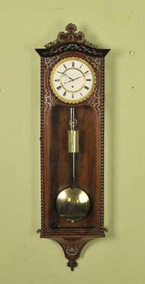 Inlaid Biedermeier Vienna Regulator Wall Clock