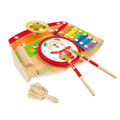 Wooden 5-in-1 Musical Instrument Board Kids Music & Art Learning Toy Playset