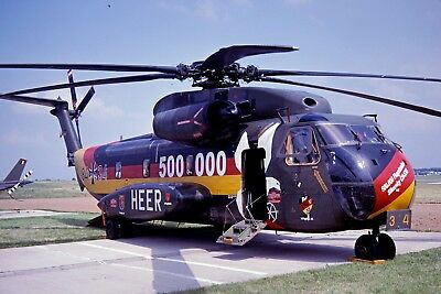 Aircraft Slide Dia Ch-53G 84+34 Hfr 35 German Army 0226