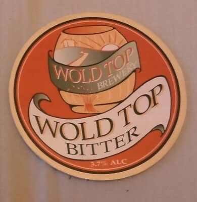 Beer pump badge clip WOLD TOP brewery BITTER cask ale pumpclip front Yorks 1990s