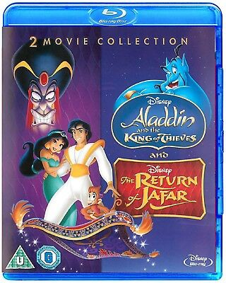 Aladdin and the King of Thieves + Return of Jafar Disney Blu-Ray 2 Movie Set NEW