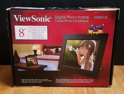 """NEW ViewSonic VFD823-50 Digital Photo Frame 8"""" Accent Frame Pictures Picture"""