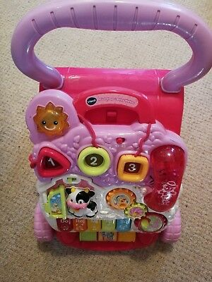 Vtech first Steps Baby Girl Walker Pink Excellent Condition