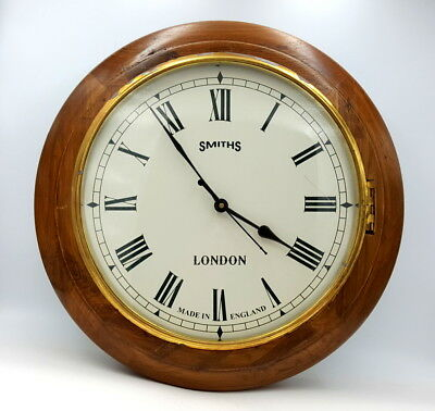 Battery converted original Smiths of London school clock dated circa 1940's