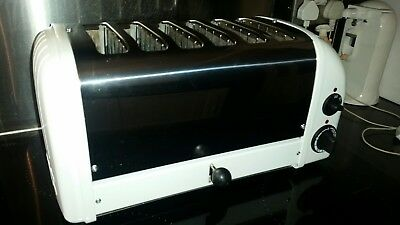 6 Slice Dualit Toaster, white and chrome good condition