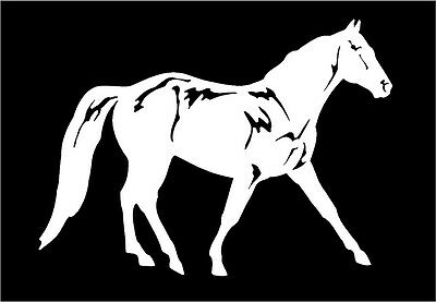 Trotter Horse Decal Equestrian car truck vinyl window trailer sticker