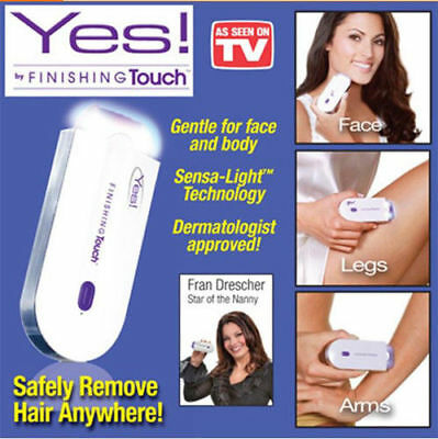 New Instant & Pain Free Yes Finishing Touch Hair Remover Pro As Seen on TV