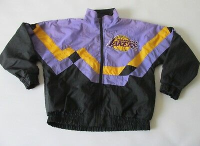 Vintage 90s Los Angeles Lakers Youth Unisex Jacket Purple Gold Colorway 14-16