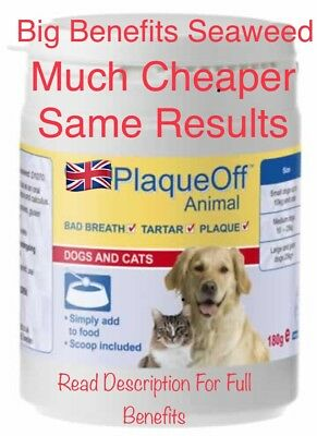 """Gets Plaque Off  For Dogs & Cats Seaweed Big Benefits Free P&P   """"TRY IT"""" 🐶🐱"""