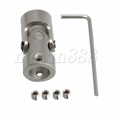 10mm to 10mm Rotatable Universal Joint Connector Coupling with M4 Screws