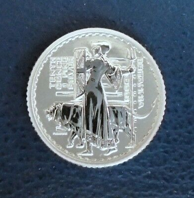 2001 Birtiannia, 20 pence, 1/10th troy ounce silver proof + capsule - top grade