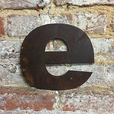 e LOWER CASE RUSTY METAL LETTERS SHOP HOME VINTAGE WORD RUSTIC INDUSTRIAL SIGN