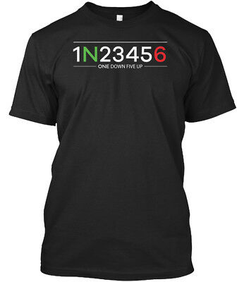 Custom 1 Down 5 Up Motorcycle Shift Pattern - 1n23456 Standard Unisex T-shirt
