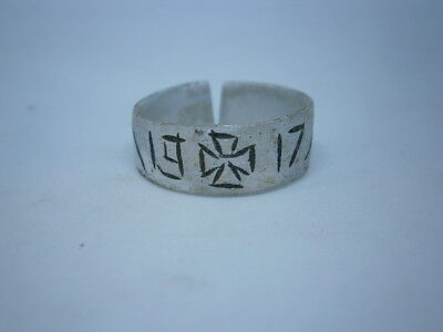 ww1 GERMANY Ring Soldiers 1917 wwI Iron Cron War Soldier Trench GERMAN Art Alumi